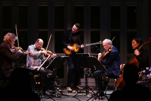 Kronos Quartet and the composer Jherek Bischoff.