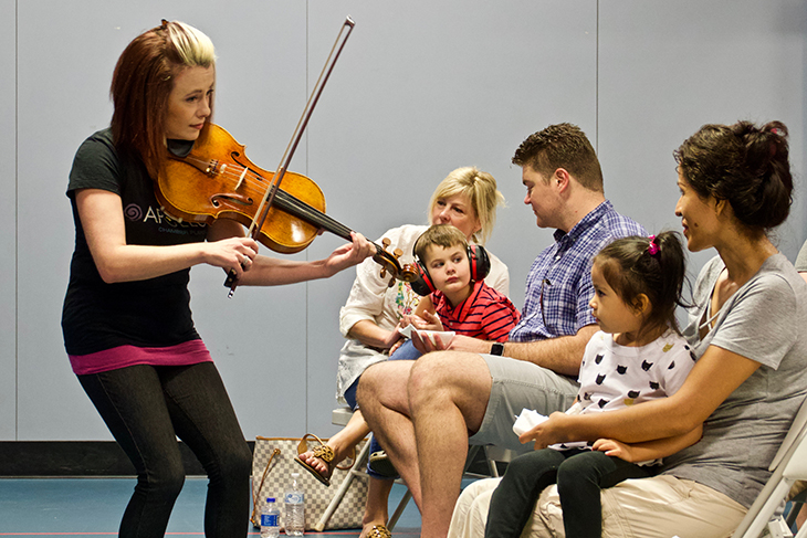 Whitney Bullock Apollo Chamber Players Sensory Friendly Autism